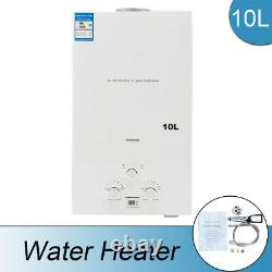 10L Natural Gas Tankless Water Heater With Shower Head & Shower Hose kit 20KW