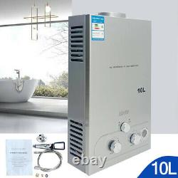 10L Tankless Natural Gas Instant Hot Water Heater with Shower Kit 2.64GPM