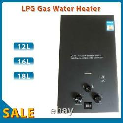 12-18L Tankless Gas Water Heater RV Camping Instant Propane Water Heater LPG