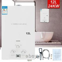 12 L Propane LPG Gas Tankless Hot Water Heater Instant Shower Camping Outdoor UK