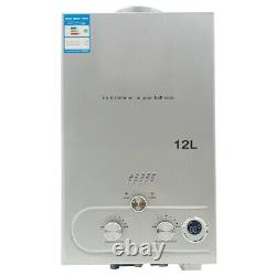 12L LPG Propane Gas Tankless Instant Hot Water Heater With Shower Kit 24KW