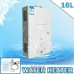 16L Propane Tankless Water Heater Portable Instant Camping Boiler with Shower Kit
