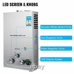 18L 36KW Instant Hot Water Heater Tankless Gas Boiler LPG Propane + Shower Kit