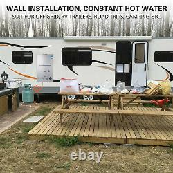 18L 4.8 GPM Propane Gas LPG Instant Hot Water Heater Tankless Boiler with Shower