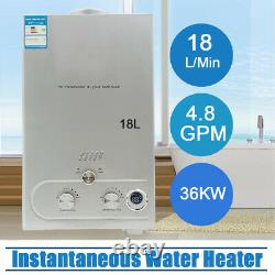 18L Instant Hot Water Tankless Shower Heater for Caravan Camping Outdoor RV 36KW