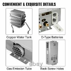 18L LPG Water Heater Propane Gas Tankless Instant Hot Boiler With Shower Head Kit