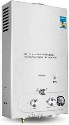 220v 8L-LPG Electric Tankless Instant Hot Water Heater For Kitchen Shower Use