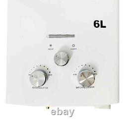 6L/min Propane Gas LPG Portable Tankless Hot Water Heater for Camping Shower