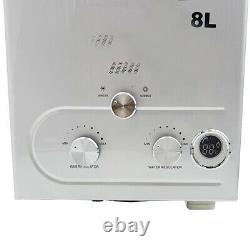 8L Natural Gas NG Tankless Hot Water Heater House Instant Heating Shower Kit UK