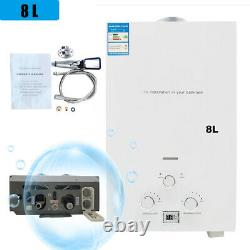 8L Portable Gas Instant Water Heater with Shower Head 16KW Indoor Bath Kitchen