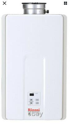 Brand New Rinnai V65IN 6.5 GPM Residential Indoor Natural Gas Tankless White