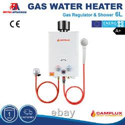 Camplux 6L 12kw Hot Water Heater Tankless Instant Gas Boiler LPG Propane Outdoor