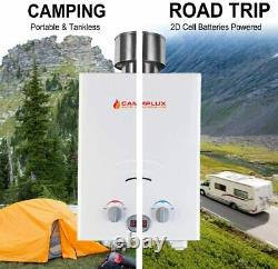 Camplux Tankless Gas Water Heater with Rain Cap 6L Outdoor Instant Gas Shower RV