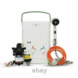 Eccotemp CEL5 Portable Tankless Water Heater with EccoFlo 12V Pump and Strainer, 3