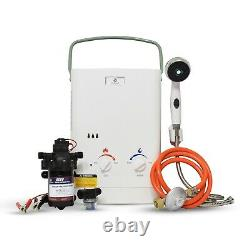 Eccotemp CEL5 Portable Tankless Water Heater withEccoFlo Pump and Strainer, 37mbar