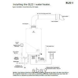 Eccotemp EL22i Propane Tankless Water Heater 6.8 GPM Digital Panel US Seller