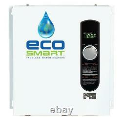 EcoSmart Tankless Electric Water Heater 3.5 GPM 240-Volt 18 kW Self-Modulating