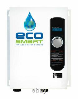 Ecosmart ECO18 18kW 240V White Single Phase Electric Tankless Water Heater