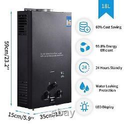 Instant Tankless Gas Hot Water Heater 12L/16L/18L Boiler LPG Propane Shower RV