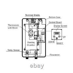MAREY Electric Tankless Hot Water Heater 3 GPM Whole House ECO110 220 VOLTS