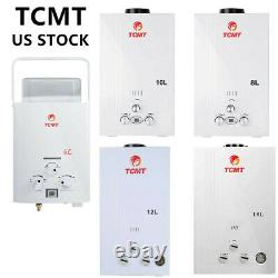 New 6/8/10/12/18L LPG Gas Instant Boiler Propane Tankless Home Hot Water Heater