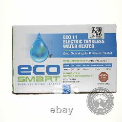 OPEN BOX EcoSmart ECO 11 Electric Tankless Water Heater in White 13KW / 240V