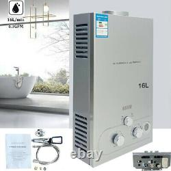 Portable LPG Propane Gas Hot Water Heater 16L Tankless Instant Indoor Outdoor RV