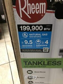 Rheem 9.5 GPM Natural Gas High Efficiency Indoor Tankless New ECOH200DVLN New