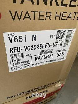 Rinnai Indoor Tankless Hot Water Heater V65iN Natural Gas 6.3 GPM White S-11