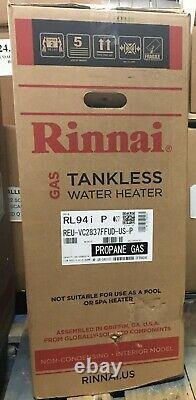 Rinnai Tankless Water Heater RL94iP, Propane Gas, Non Condensing 9.4 GPM