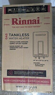 Rinnai V94eN Outdoor Tankless Water Heater max Btu 199000 9.8gpm ULNOx