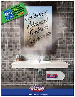 Seisco Tankless Electric Water Heater CA-11 (240V) 2 Chamber for commercial use