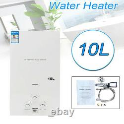 Tankless Hot Water Heater Propane Gas LPG 10L 20KW Instant Boiler With Shower Kit