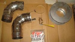 Universal Tankless Water Heater Ducting Installation Vent Kit Stainless Steel