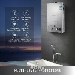 Upgrade Propane Gas Hot Water Heater Tankless 18L With Shower Head Water Filter