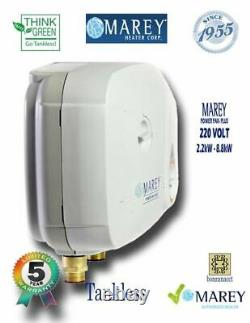 Water Heater Electric Tankless 2.5 GPM 220V Best Tiny House Marey PP220